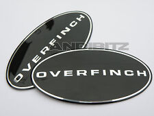 LAND ROVER DISCO DISCOVERY 3 GENUINE OVERFINCH GRILL & REAR BLACK BADGE SET