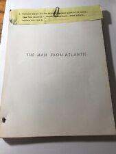 Vintage Tv Script Blowout: Man from Atlantis 1976 Script Pilot Rare