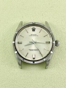 Vintage Rolex 34mm Watch Oyster Perpetual Date Ref 1007 Steel Watch Head