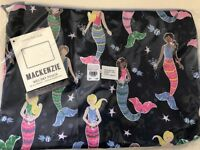 Pottery Barn Kids Navy Mermaid Wet Dry Bag  NWT Luggage Sleepover Sold Out