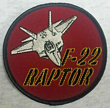 F 22 RAPTOR US AIR FORCE US NAVY US MARINES Patch Aufnäher USAF MILITARY 12
