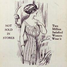 1912 SPIRELLA CORSET Meadville Penn CELLULOID Advertising Calendar Notebook