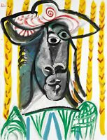"""PABLO PICASSO Poster or Canvas Print """"Tête"""""""