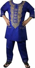 Men's African Pant Suit Brocade Embroidered 3 Piece Suit set Ethnic Clothing