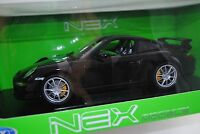 1/18 Welly Porsche 911 Gt3 Noir 997 #18024w