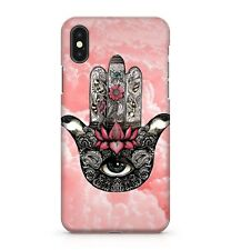 Mandala Patterned Henna Hand Cloudy Heavenly Pink Sky Effect Phone Case Cover
