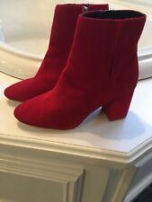 NWOT Halogen Red Suede Boots/Booties Sz 9