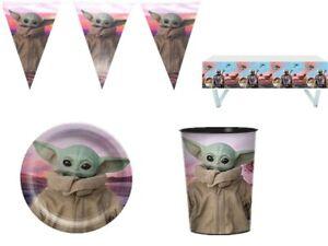 Baby Yoda Mandalorian Star Wars Grogu Birthday Party Supplies Decoration Balloon
