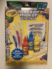 Crayola Marker Maker Refill Pack Make 12 Custom Colour Markers New