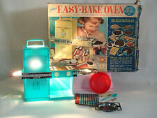 1960's Kenner Easy Bake Oven w/ original box and accessories 1964 1600 blue