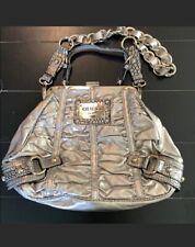 Unique Guess Silver Metallic Crocodile Accent Animal Print Handbag Purse~Must C!