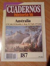CUADERNOS HISTORIA 16. Nº 187 AUSTRALIA
