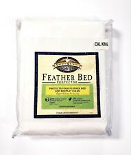 Pacific Coast Feather Bed Protector Zip Closure Cover 100% Cotton 230Tc Cal King