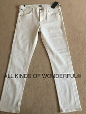 Citizens of Humanity Agnes Mid Rise Slim Straight in Optical White RRP£180 BNWT