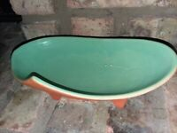 McCoy Footed Pottery Bowl, Tray. Green Dish. Lay freshly cut herbs in it. Spring