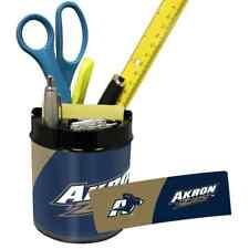 AKRON ZIPS NCAA Office Desk Caddy PEN/PENCIL/BUSINESS CARD HOLDER