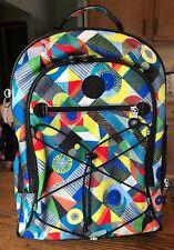 Kipling Backpack Wheels Roll Or Carry Travel Weekend Geometric Print