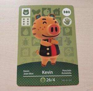 Kevin #380 Animal Crossing Amiibo Card Series 4 Official Nintendo New Horizons