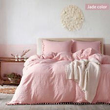 Duvet Cover with Pillow Case Quilt Cover Bedding Set Twin Queen King Size Home