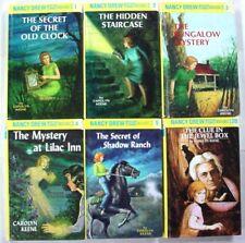 Nancy Drew 6 Lot Flashlight editions 1, 2, 3, 4, 5, & 20 Old Clock Jewel Box