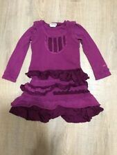 Naartjie Kids Girls Ruffle Layered Long Sleeve Dress Tunic Sz 5 M