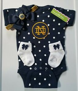 Notre Dame newborn/baby girl clothes Notre Dame baby shower girl notre dame girl