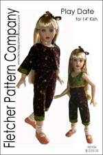 """Play Date Doll Clothes Sewing Pattern for 14"""" Kish a Designs by Jude"""