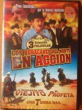 LOS HURACANES DEL NORTE EN ACCION (DVD) 3 COLECCION PELICULAS BRAND NEW SEALED