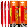 Pilot FriXion Clicker Erasable Red Gel Ink Pens, 3 Pens With 2 Packs of Refills