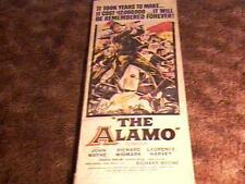 ALAMO 14X36 MOVIE POSTER 1960 JOHN WAYNE
