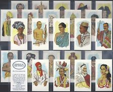 UNIVERSAL CIGARETTE CARD CO.-FULL SET- PEOPLE OF THE WORLD (25 CARDS) - EXC+++