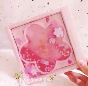 China Starbucks Romantic Pink Sakura Water Coaster Coffee Cup Pad