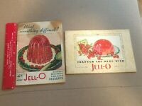 TWO Vintage JELL-O Recipe Booklets 1927 &1931 Lovely Full Color Litho