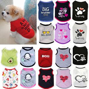 Small Dog Cat Clothes Summer Pet Puppy T Shirt Costume Vest Sport Casual Apparel