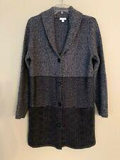 J. Jill Gray Tone Button Long Cardigan Sweater Size S