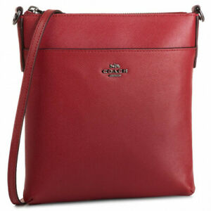 Coach 41320 Crossgrain Leather Messenger Crossbody Bag Electric Red