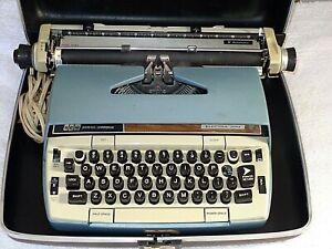 Vintage SCM Smith Corona Electra 220 Automatic Electric Typewriter & Case