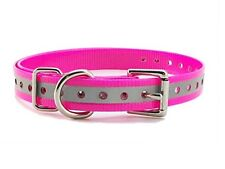 """Sparky PetCo 3/4"""" Neon Pink Roller Buckle Replacement Dog Collars for Garmin ."""