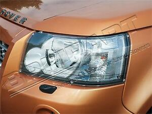 LAND ROVER LR2 / FREELANDER 2 FRONT CLEAR ACRYLIC HEADLAMP GUARDS ( PROTECTORS )