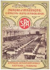PUBBLICITA'  1918 AUTO SPA STABILIMENTO MOTORI AVIAZIONE AMBULANZA CAMION WW1