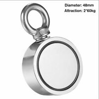 120KG Double Sided Super Strong Neodymium Fishing Magnet 600LB Pulling Force #!
