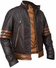 X-Men Wolverine Origins Bomber Style Brown Real Leather Jacket