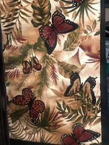 Tropical Butterfly area rug for the home 5x8 New Just In