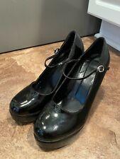 "Sexy Mary Jane Style Black Platform Costume High Heel (4.5"") Shoes-sz S(5-6)"