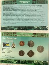 BAHAMAS : 5 COIN  CENTS (1992-2007)  BU SET IN ORIGINAL PACK AND HISTORY.