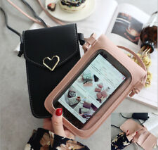 Shoulder Bag pack Card Wallet With strap Crossbody Pouch PU Leather Phone Case