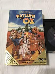 RETURN TO OZ - BETA RARE - 1985 Fairuza Balk - CULT FANTASY - DISNEY HOME VIDEO