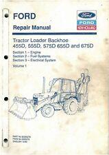Ford Digger 555d 575d 655d 675d Operator Manual Loader