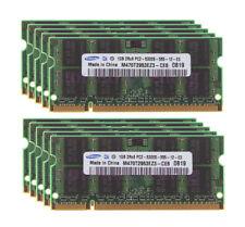 10x 1GB Samsung 1G 2Rx8 PC2-5300S DDR2 667 Mhz 200Pin Memory Laptop RAM Test LOT