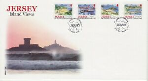 GB Stamps First Day Cover Jersey Island Views, coast, harbour, boats, forts 2006